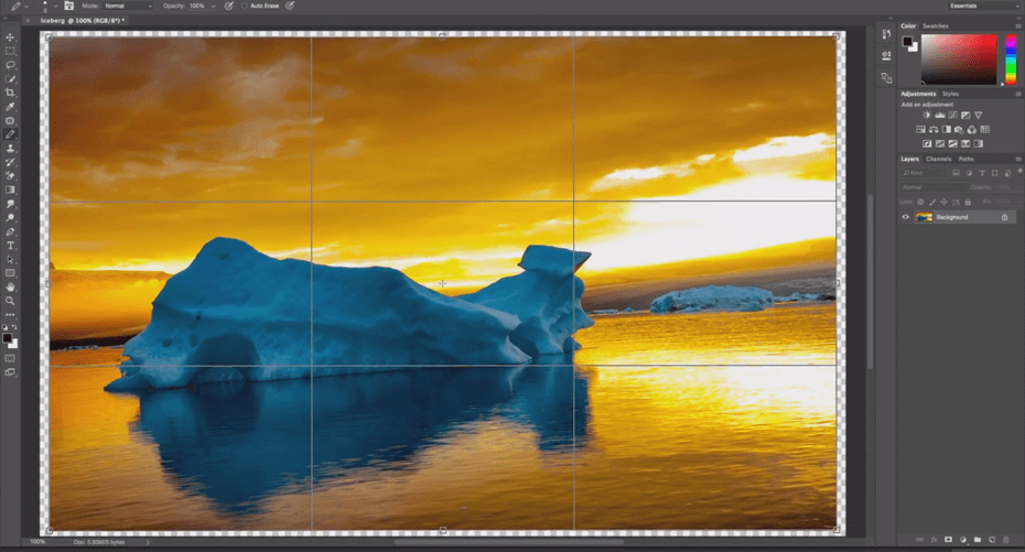 program adobe photoshop screen narzędzie pracy szkolenie adobe photoshop moduł 1