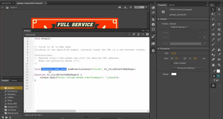 szkolenie adobe animate przekształcanie do html5
