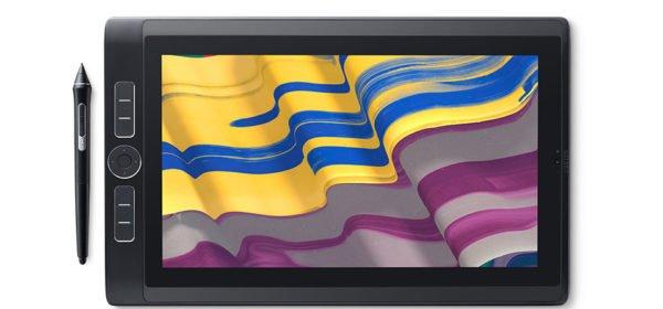 Tablet graficzny z wyświetlaczem i komputerem