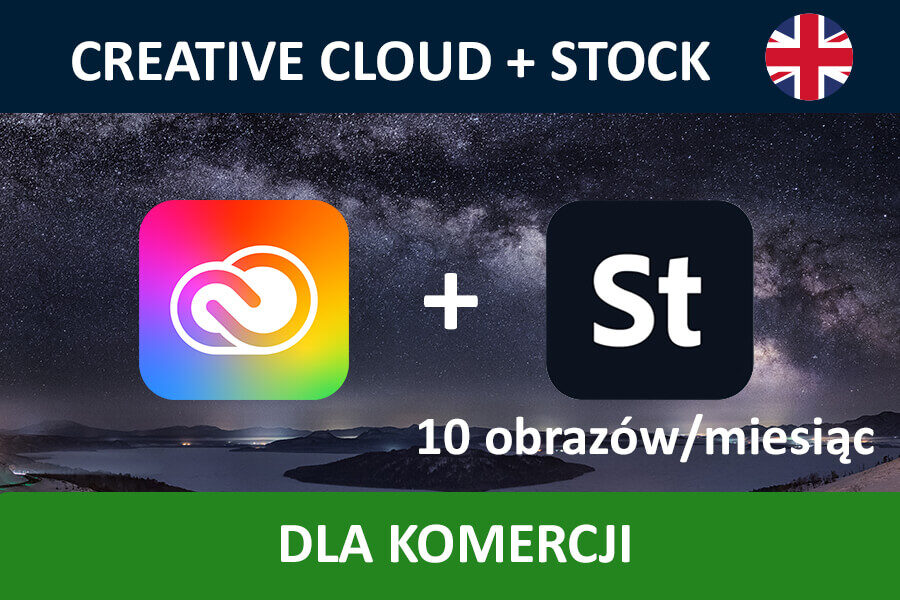 Adobe Creative Cloud for Teams All Apps nowa subskrypcja COM ENG + STOCK