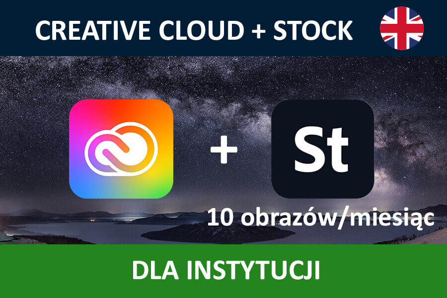 Adobe Creative Cloud for Teams All Apps nowa subskrypcja GOV ENG + STOCK