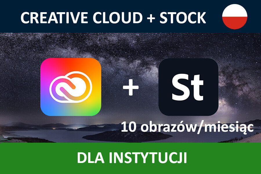 Adobe Creative Cloud for Teams All Apps nowa subskrypcja GOV MULTI/PL + STOCK