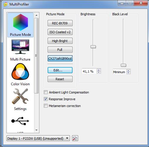 NEC PA271Q NEC MultiProfiler