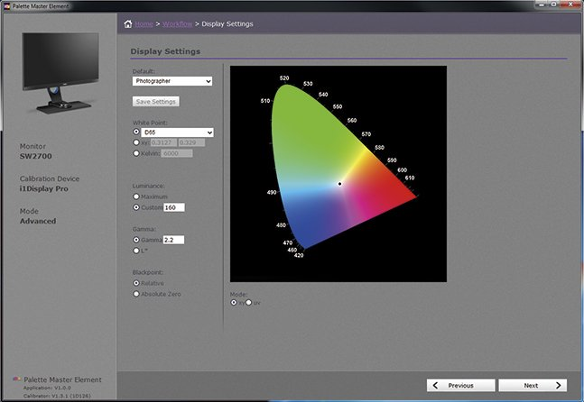 benq sw2700pt palette master element
