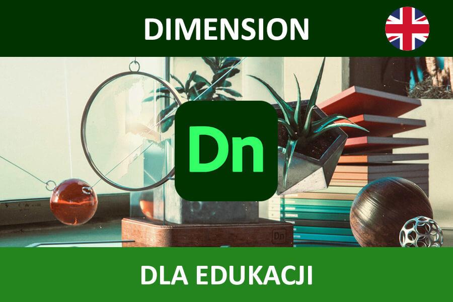 Adobe Dimension CC nowa subskrypcja EDU MULTI