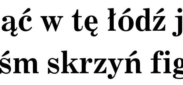 Czcionka szeryfowa | font szeryfowy