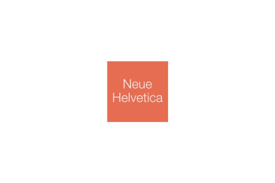 Czcionka Neue Helvetica