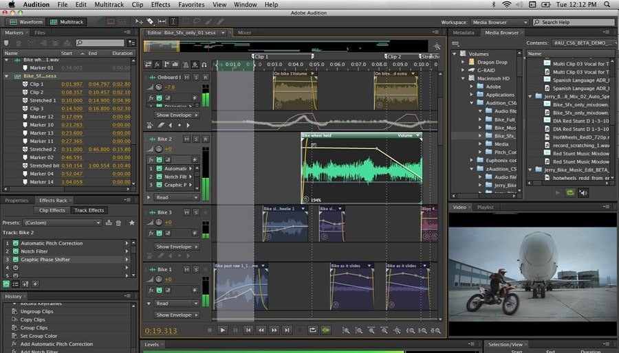 Adobe Audition - interfejs