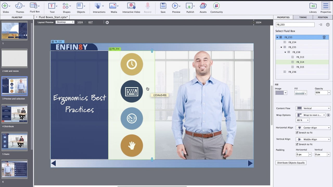 Adobe Captivate - interfejs