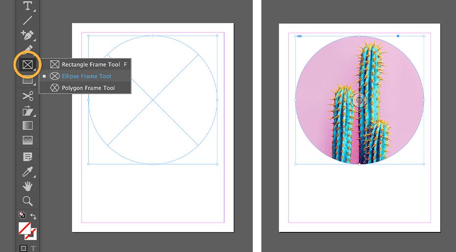 Adobe Indesign tworzenie kształtów