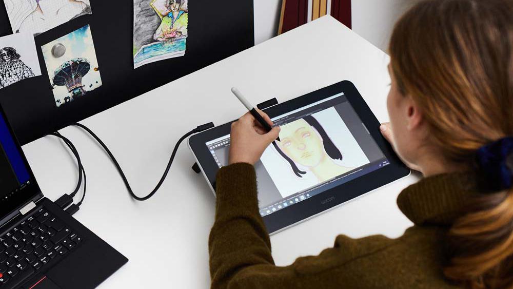 Tablet graficzny Wacom One ekran