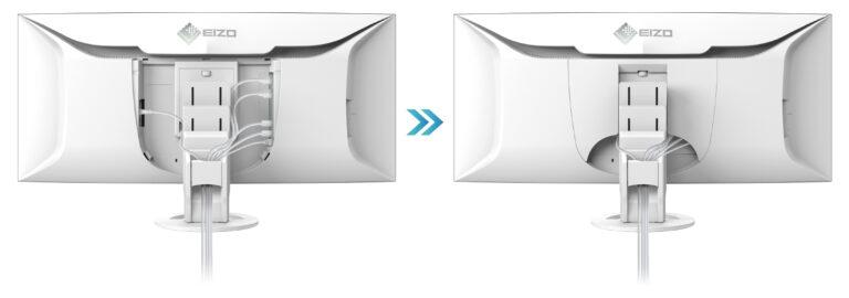 Eizo FlexScan EV3895 zarządzanie kablami