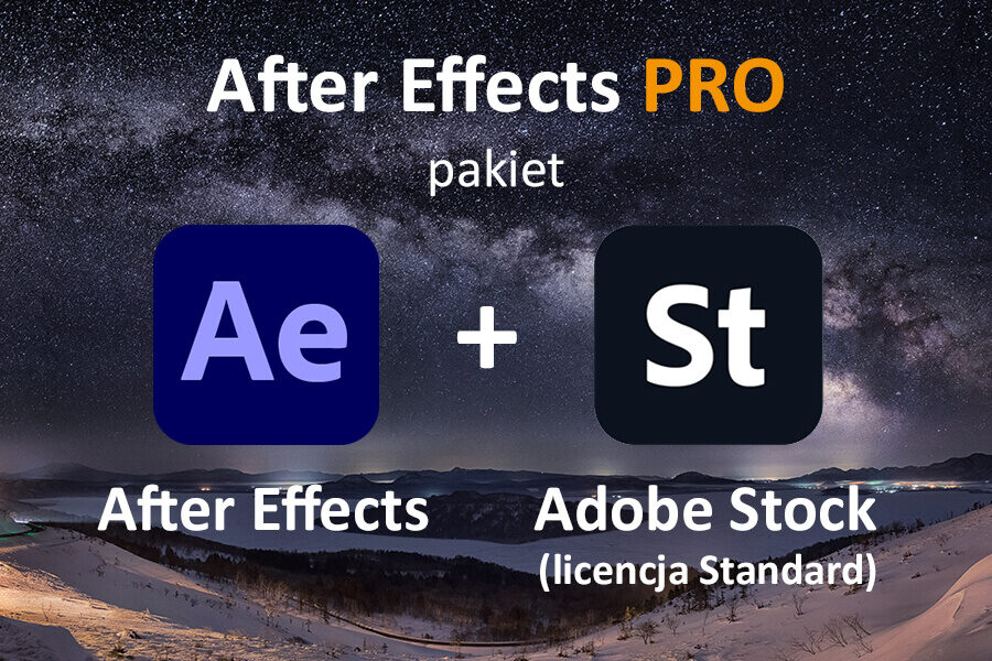 AFTER EFFECTS PRO for Teams – nowa subskrypcja COM ENG + Adobe Stock