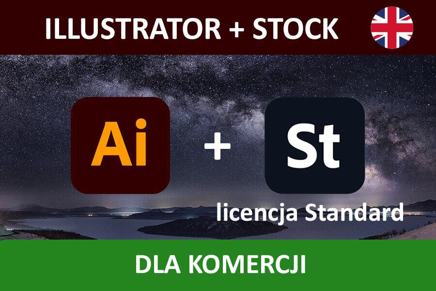 ILLUSTRATOR PRO for Teams – nowa subskrypcja COM ENG + Adobe Stock
