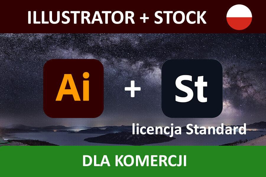 ILLUSTRATOR PRO for Teams – nowa subskrypcja COM MULTI/PL + Adobe Stock