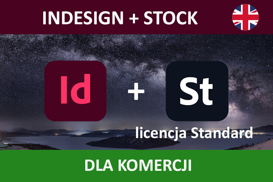 INDESIGN PRO for Teams – nowa subskrypcja COM ENG + Adobe Stock