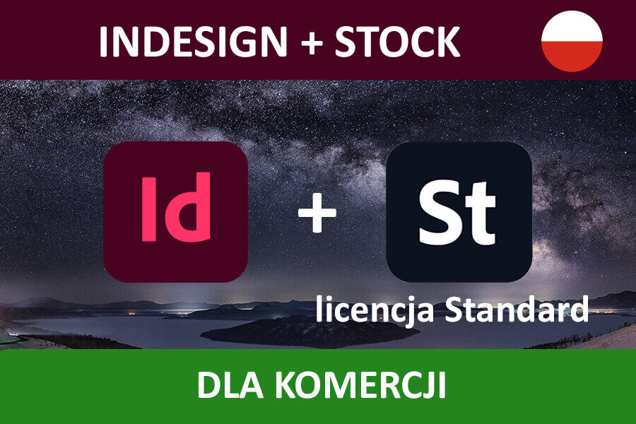 INDESIGN PRO for Teams – nowa subskrypcja COM MULTI/PL + Adobe Stock