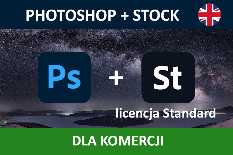 PHOTOSHOP PRO for Teams – nowa subskrypcja COM ENG + Adobe Stock